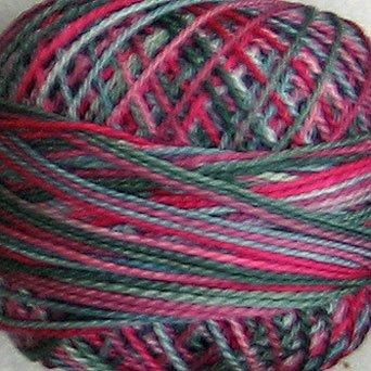 M51 Victorian Splendour - Pearl Cotton size 8 - Valdani Variegated q1