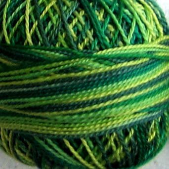 M26 Green Grass  Pearl Cotton size 8  Valdani Variegated q6