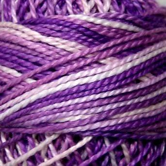 M2 Iris Field - Pearl Cotton size 8 - Valdani Variegated q2