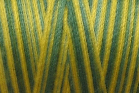 M50 - Green Pines - 35wt - 500m - Valdani Variegated Thread  q1