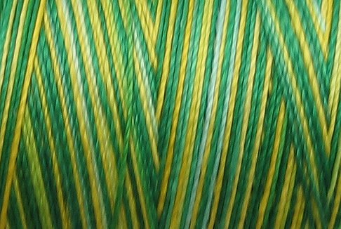 M55 - Lemon Tree - 35wt -  500m - Valdani Variegated Thread q1
