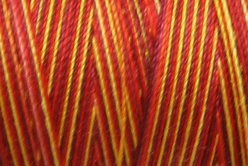 M65 - Flames - 35wt -  500m - Valdani Variegated Thread q1