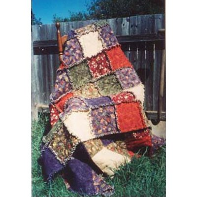 Rag Quilt - Soft Throw pattern by Snowflake Memories - Italian Version - easy class project
