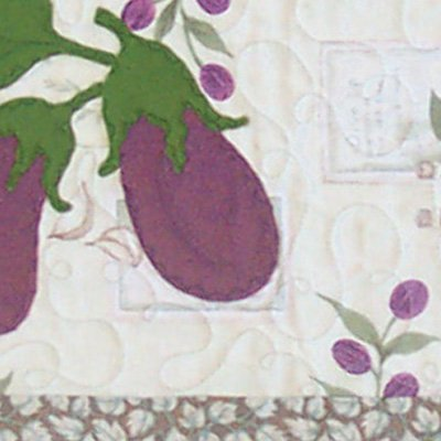 Eggplant Runner - rustic tablerunner pattern by Snowflake Memories q2