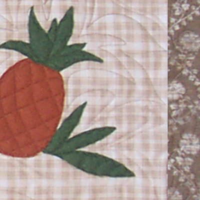 Pineapple Runner - rustic tablerunner pattern by Snowflake Memories q3