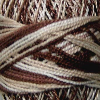 M0 M Cappuccino Pearl Cotton size 8 Valdani Variegated q1
