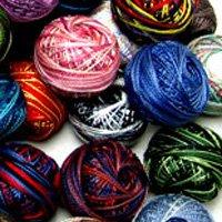 Any 12 balls Variegated M series Pearl Cotton Valdani  size 12