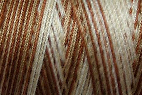M00 M Cappuccino 35wt  500m  Valdani Variegated Cotton Quilting Thread q1