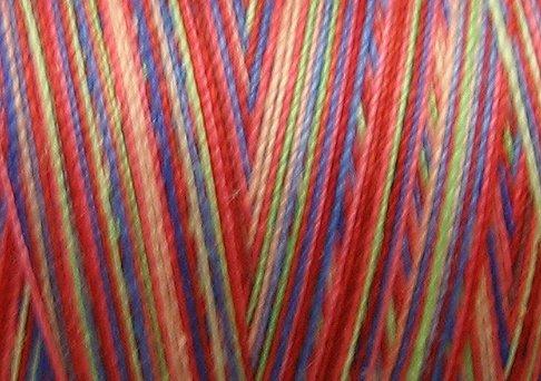 M54  Primaries 35wt 2000m cone Valdani Hand Dyed Variegated Cotton Quilting Thread  x1
