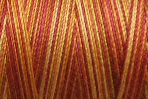 BONUS M37 Autumn 50wt 1625 yds - Valdani Hand Dyed Cotton Variegated Thread q1