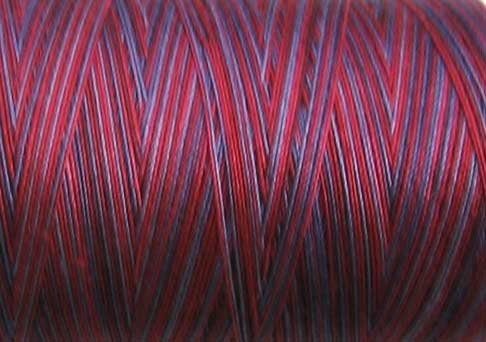 M77 Red Navy  35wt 1080yds Valdani Hand Dyed Variegated Cotton Quilting Thread  q1
