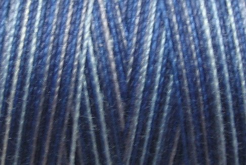 M05 Denim Blues 50wt 1080 yds - Valdani Hand Dyed Cotton Variegated Thread q1