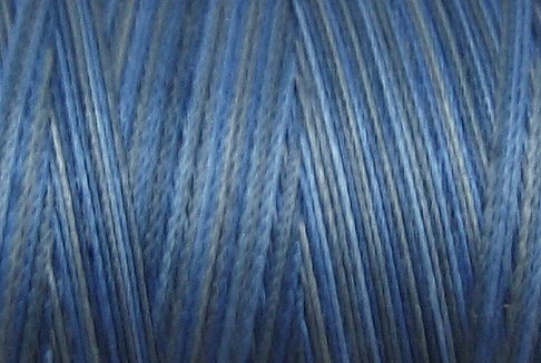 M46 Denim Light 50wt 1080 yds - Valdani Hand Dyed Cotton Variegated Thread q1