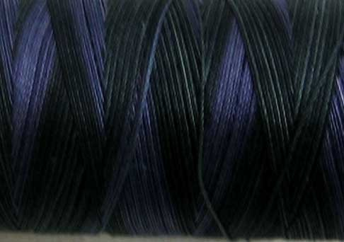 M91 Black Night 50wt 1080 yds - Valdani Hand Dyed Cotton Variegated Thread q1