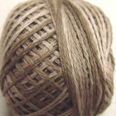 P3 Aged White (medium) size 5 Overdyed Pearl Cotton J Paton Vintage Hues - q1