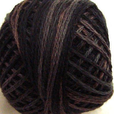 P11 Aged Black size 12 Overdyed Pearl Cotton Valdani Vintage Hues  q6