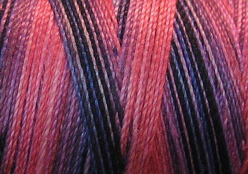 V103 Fuchsia  Periwinkle Valdani 35wt 1080 yds Variegated Cotton Thread q1