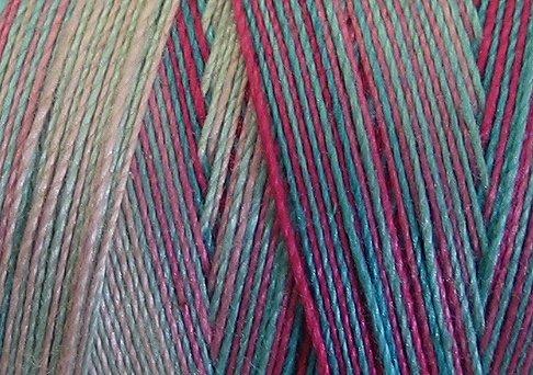 V108 Sparkling Stream Valdani 35wt 1080 yds Variegated Cotton Quilting Thread q1