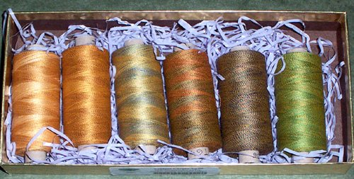 Valdani 2 ply Hand Dyed Variegated Twisted Poly and Cotton Free Ship US CA set a