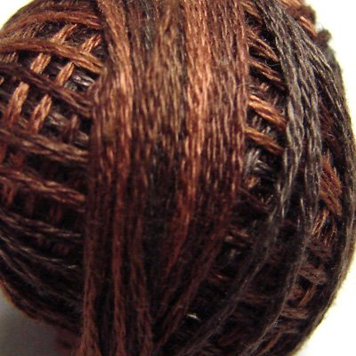 M90 Chocolate Brownies Three-Strand-Floss ® Valdani punchneedle cotton 29yd Free Ship US q6