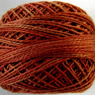 O510 Terracotta Twist  Pearl Cotton size 12  Valdani Overdyed 0510 q6