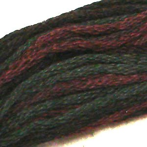 O524 - Maroon Moss - six strand cotton floss Valdani free ship US CA q4