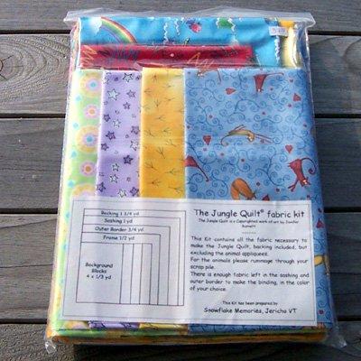 My Jungle Quilt by Jenifer Burnett - Fabric Kit blue tones