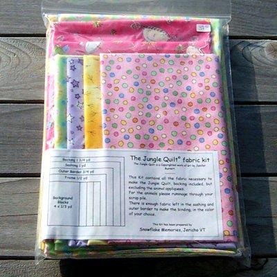 My Jungle Quilt by Jenifer Burnett - Fabric Kit pink tones
