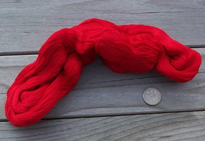 Valdani Mist big skein 1090 yds red 100% cotton 27wt - q2