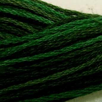 O539 Evergreens - six strand cotton floss Valdani - free ship US CA - q1