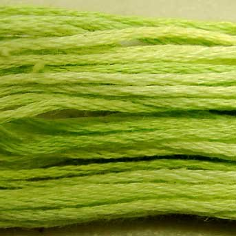 O543 Lime Sherbet - six strand cotton floss Valdani - free ship US CA - q6