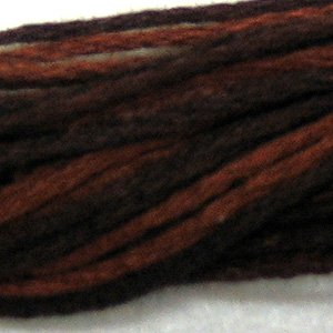 O547 Burnt Chocolate  six strand cotton floss Valdani free ship US CA  q6