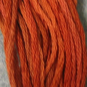 P6 Rusted Orange  J Paton six strand cotton floss Valdani free ship US CA q6