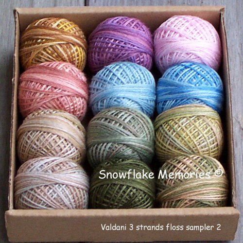 3 Strands Floss Valdani Sampler nbr 2 Lights - 12x29yd balls Free Ship US CA q1