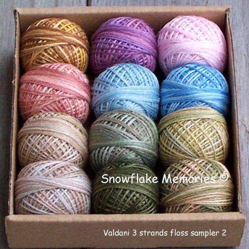 3 Strands Floss Valdani Sampler set 2 12x29yd balls Free Shipping US q1
