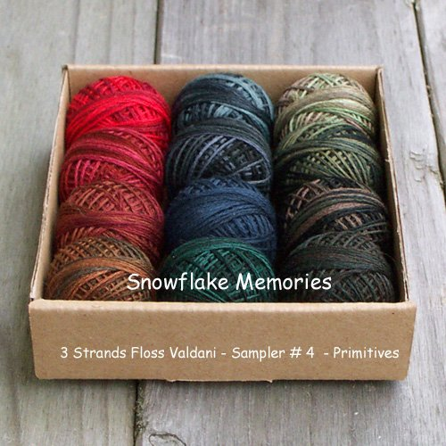 Our Snowflake Memories Gift set #4 Primitives 3 Strands Floss Valdani Free Ship US CA q1