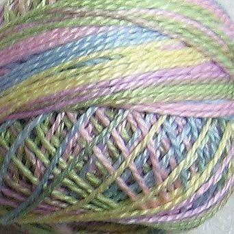 LIGHTS 6 tonalities Valdani pearl cotton balls #12 and Free Ship US CA