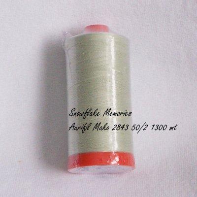 Aurifil 2843 Palm Leaf cotton thread 50 wt 1300 meter q1