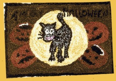 Merry Halloween pattern for Punchneedle Embroidery by Hooked On Rugs q2