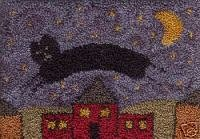 Cats Can Fly pattern for Punchneedle Embroidery by Amy Comte q1