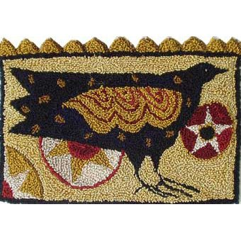 Star Crow pattern for Punchneedle Embroidery by Hooked On Rugs q3