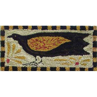 Single Crow pattern for Punchneedle Embroidery by Hooked On Rugs q3