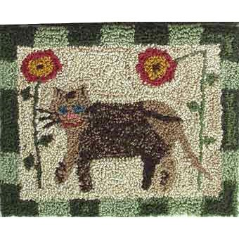 Whiskers the Cat pattern for Punchneedle Embroidery by Hooked On Rugs q1