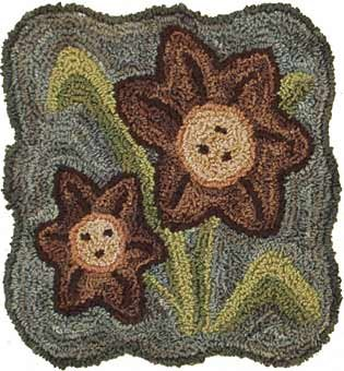 Day Lily pattern for Punchneedle Embroidery by Hooked On Rugs q1
