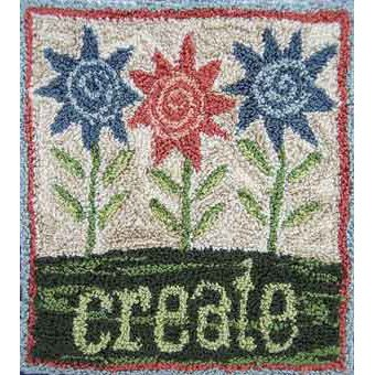Create pattern for Punchneedle Embroidery by Hooked On Rugs q1