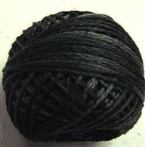 H211 Blue Black Heirloom Punchneedle 3 Strands Cotton Floss Valdani 29yd ball q6