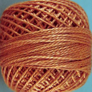 159 Rust  Pearl Cotton size 8  Valdani Solid color q4