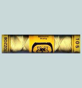 105 Golden Yellow Silk Cucirini from Italy size 24 10m