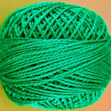 38 Emerald Forest  Pearl Cotton size 8  Valdani Solid color q1