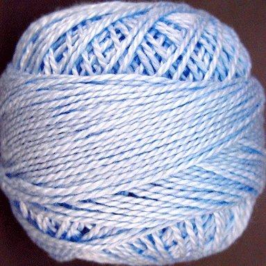 205 Soft Sky Blue  Pearl Cotton size 8  Valdani Solid color q4